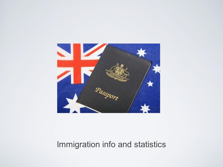 Immigration info and statistics