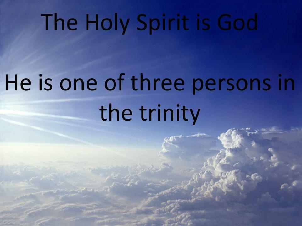 The Holy Spirit is ____________ 1 John 5:7 John 16:13