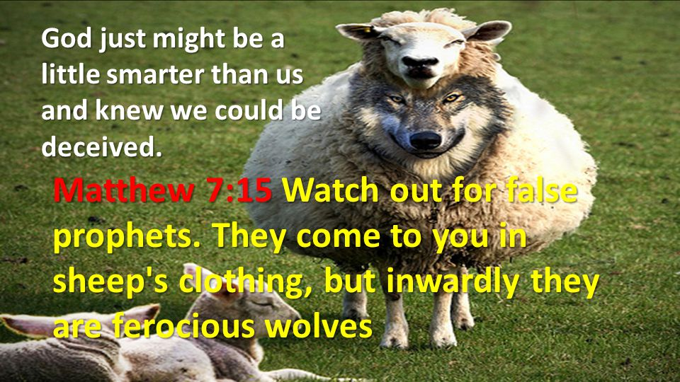 Why do you think WE, the people of God are warned throughout the Scriptures?.