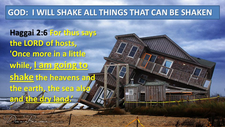 The earthquakes Jesus speaks to are spiritual earthquakes. We are looking in the wrong places to see the signs of the end