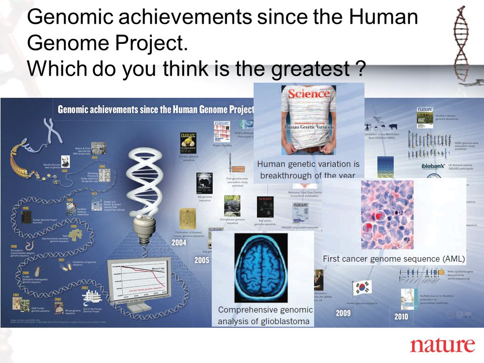 Genomic achievements since the Human Genome Project. Which do you think is the greatest ?