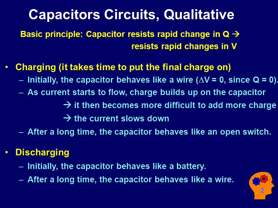 Resistor- capacitor circuits  R C I I Let's try to add a Capacitor to our simple circuit Recall voltage drop on C .