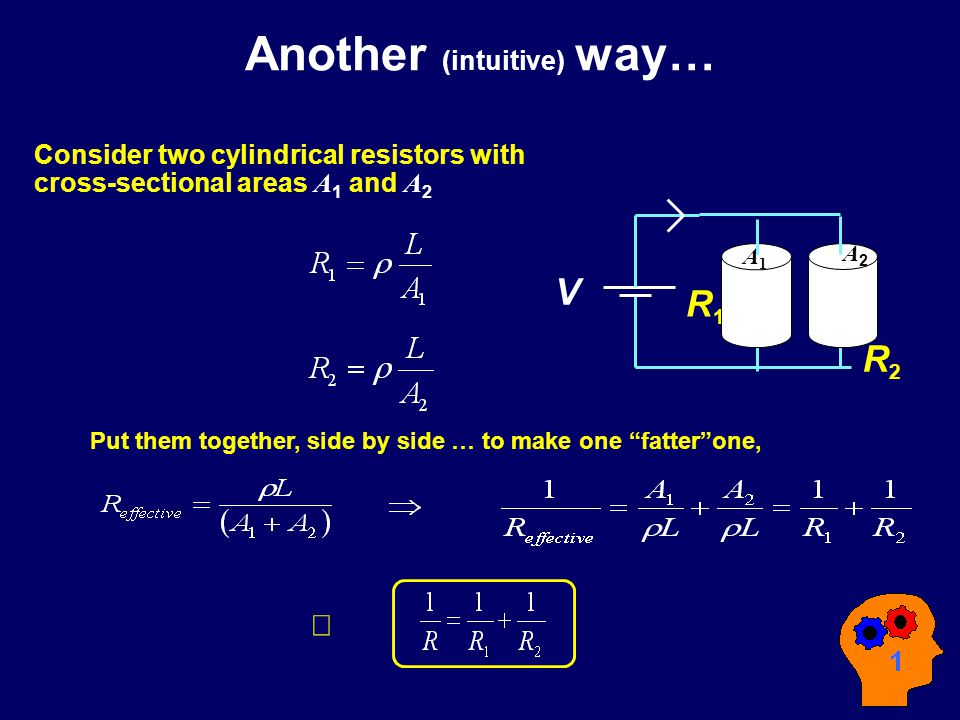 Resistors in ParallelParallel a d I I R1R1 R2R2 I1I1 I2I2 V I a d I RV But current through R 1 is not I .