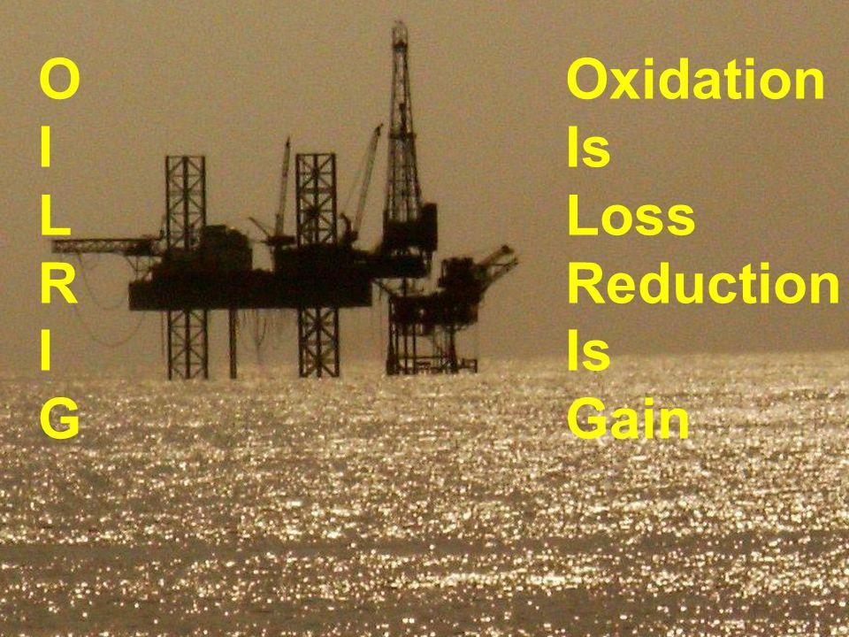 OILRIGOILRIG Oxidation Is Loss Reduction Is Gain