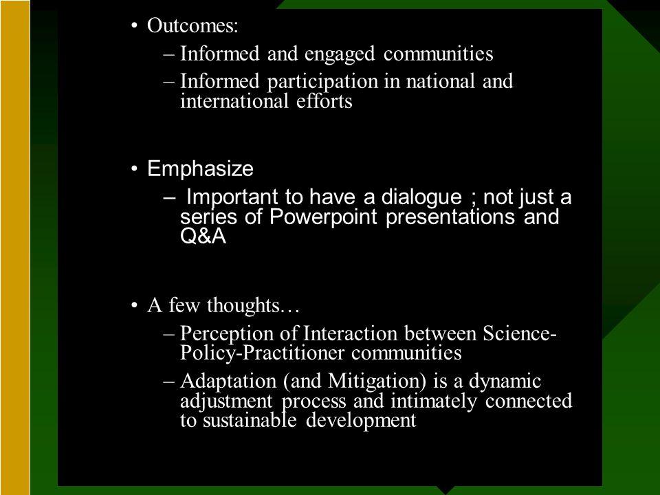 GEORGE PERKINS MARSH INSTITUTEGEORGE PERKINS MARSH INSTITUTE Science-Policy-Practitioner communities Roger Kasperson