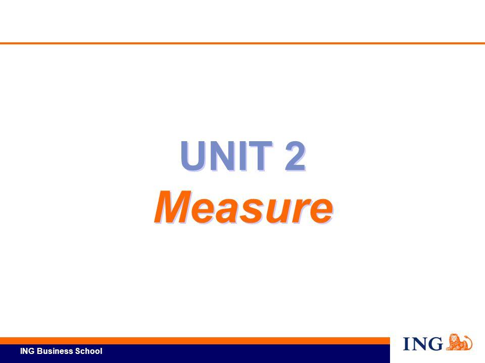 ING Business School UNIT 2 Measure UNIT 2 Measure
