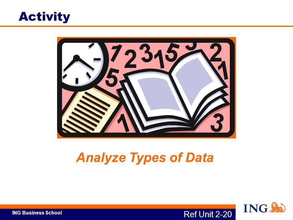 ING Business School Analyze Types of Data Ref Unit 2-20 Activity