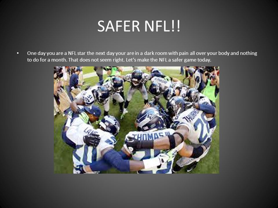 SAFER NFL!.