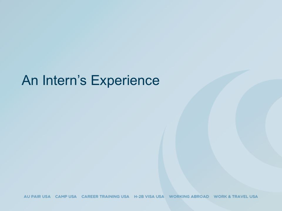 An Intern's Experience