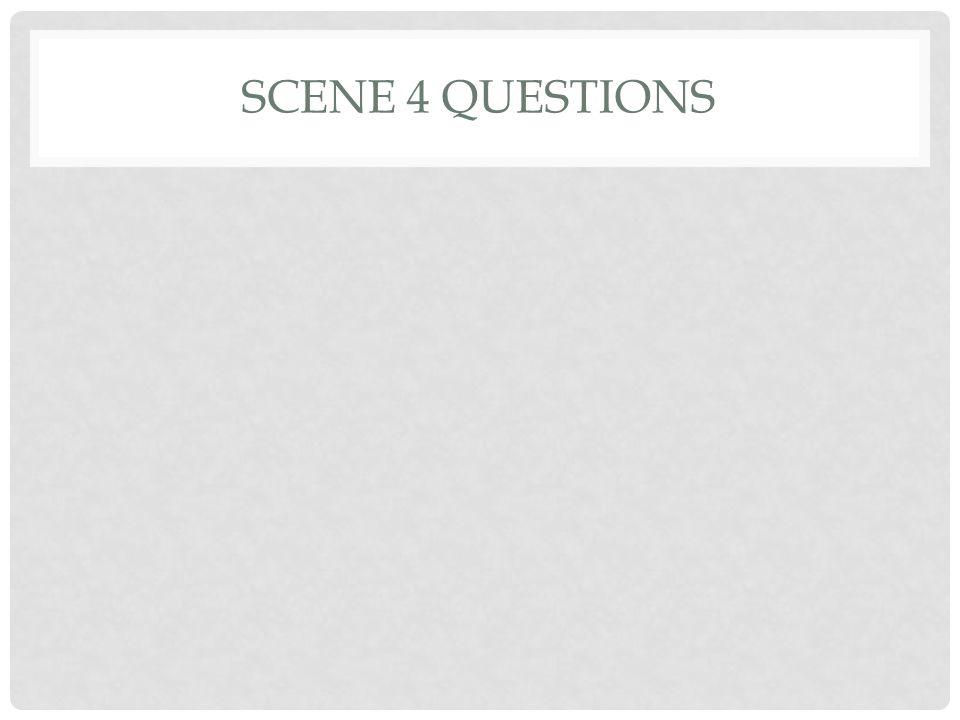 SCENE 4 QUESTIONS