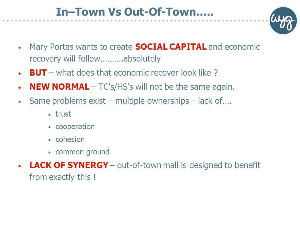 In–Town Vs Out-Of-Town…..