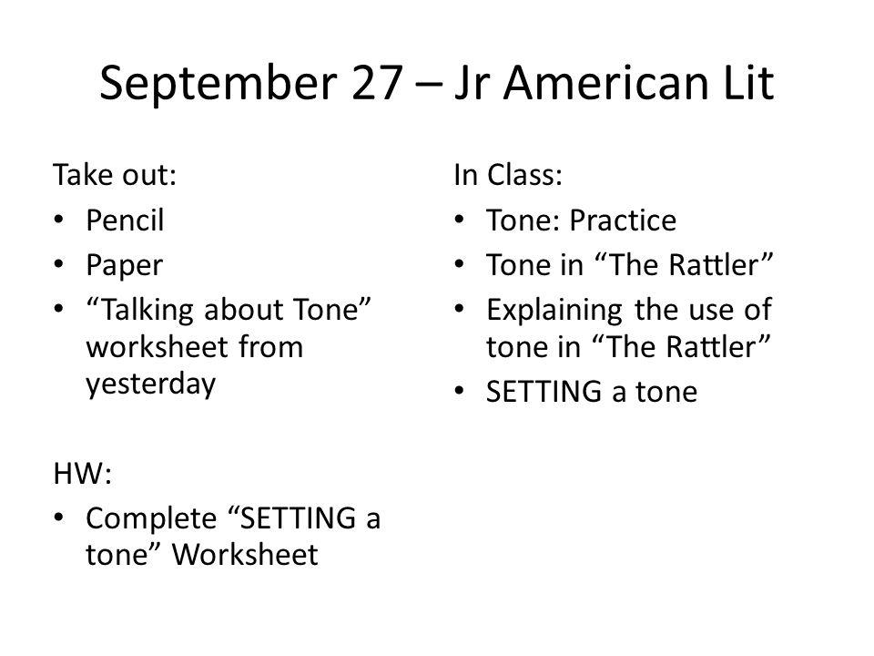 Tone: Practice