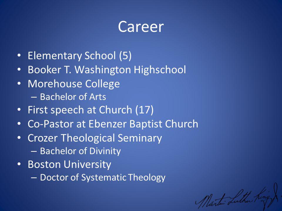 Career Elementary School (5) Booker T.