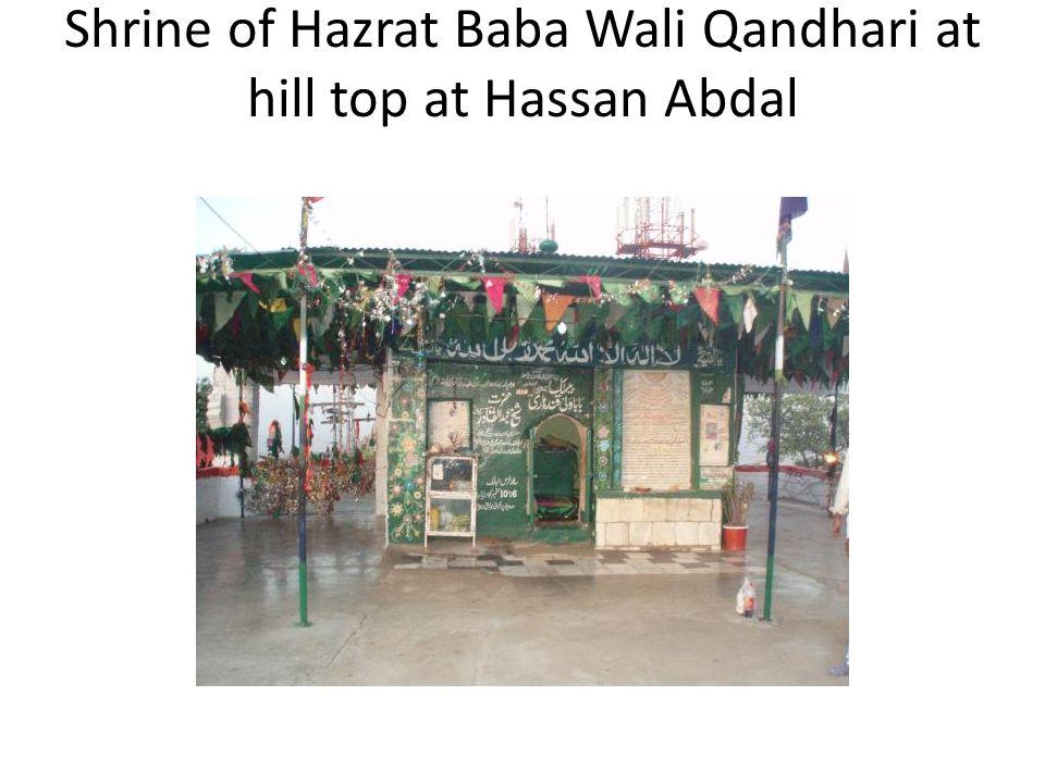 Shrine of Hazrat Baba Wali Qandhari at hill top at Hassan Abdal