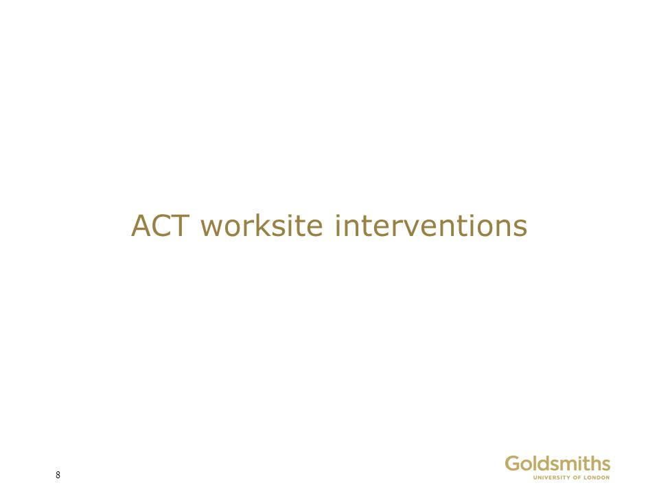 ACT worksite interventions 8