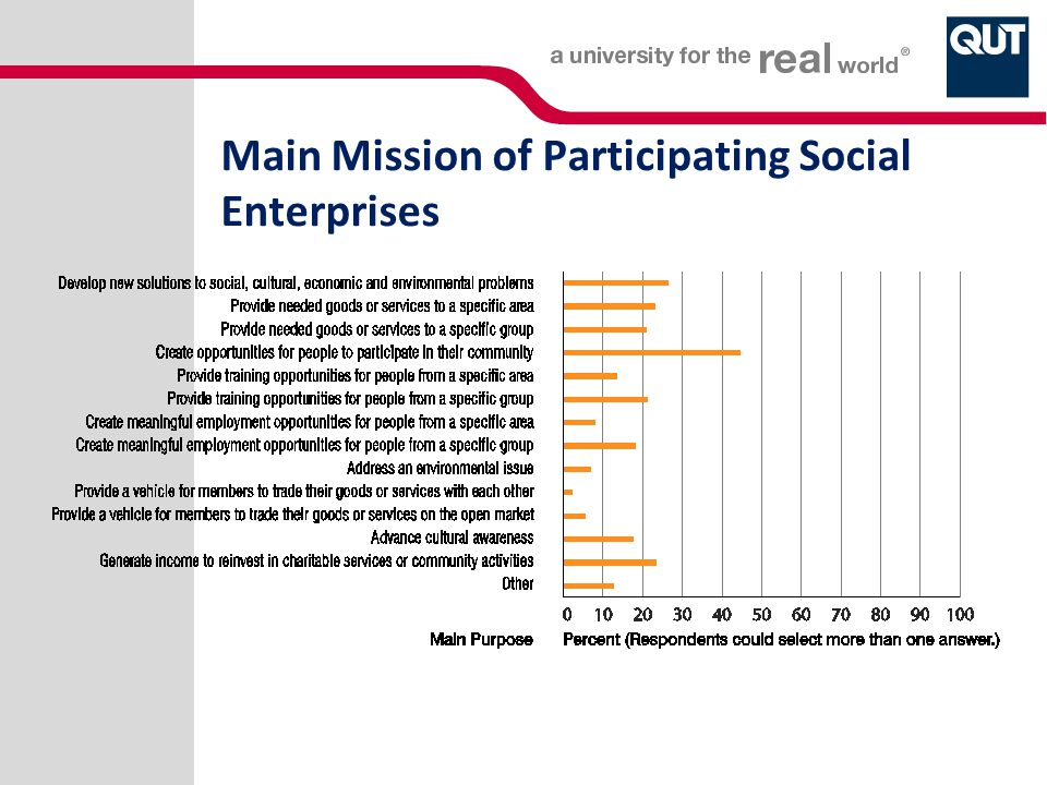 Main Mission of Participating Social Enterprises