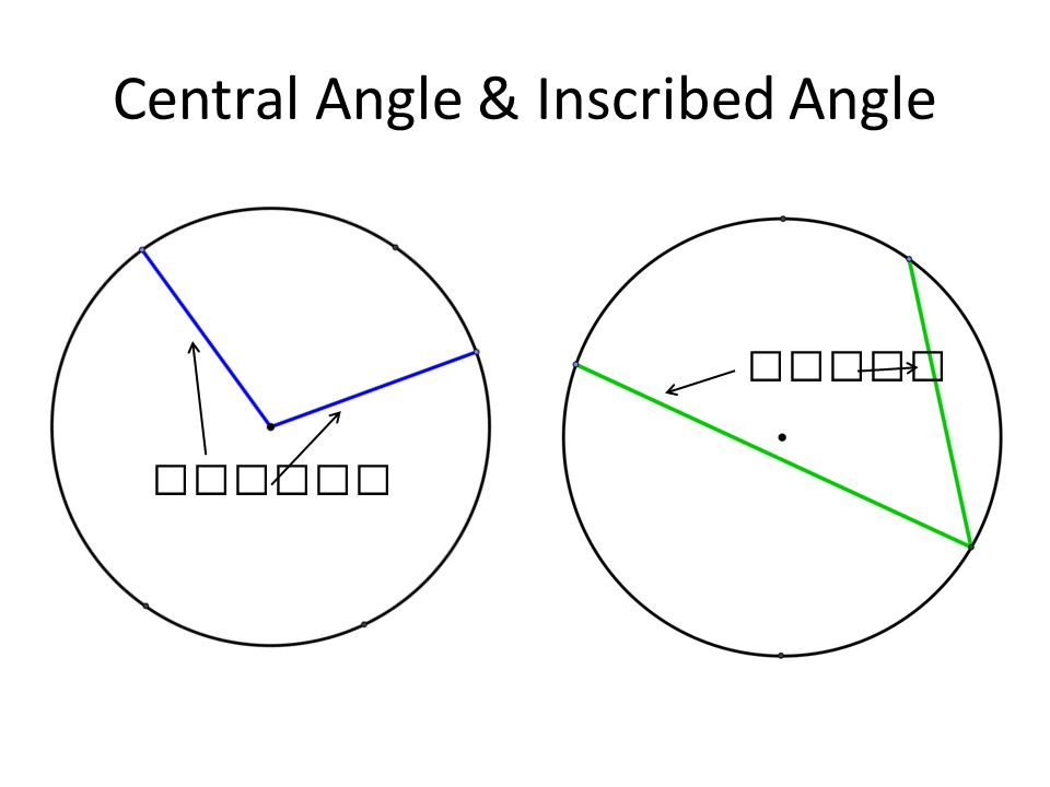 Central Angle & Inscribed Angle radius chord