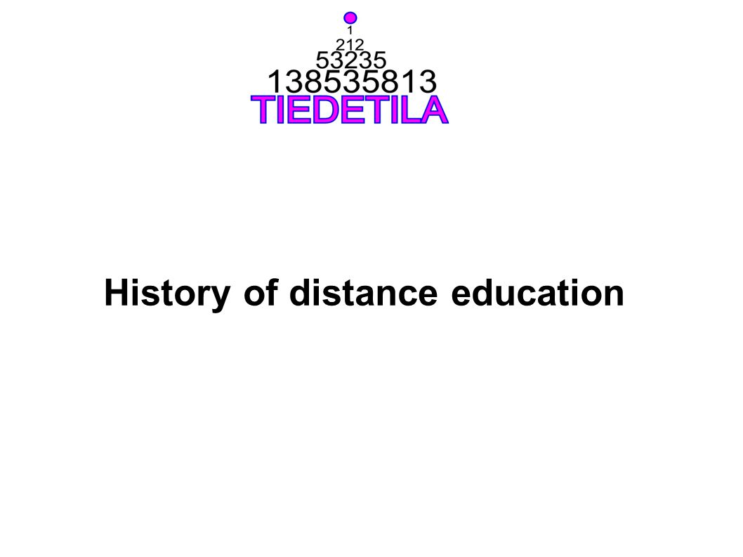 History of distance education