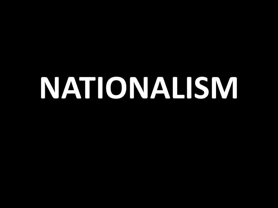 Nationalism Unification