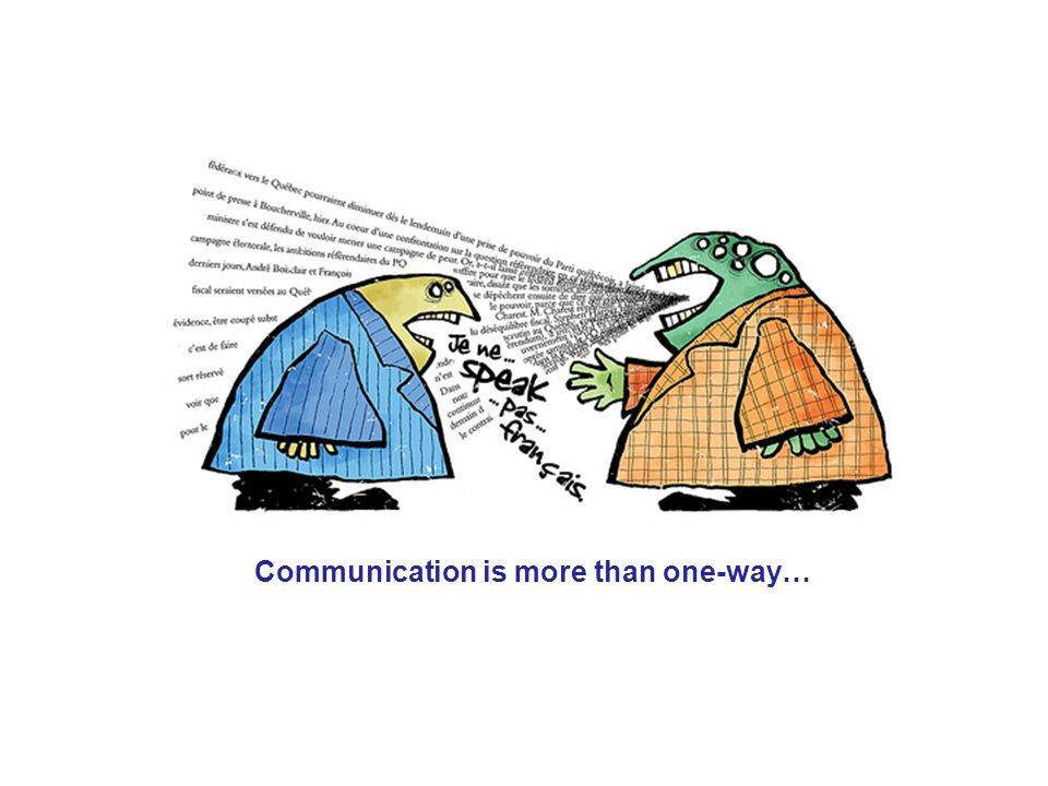Communication is more than one-way…