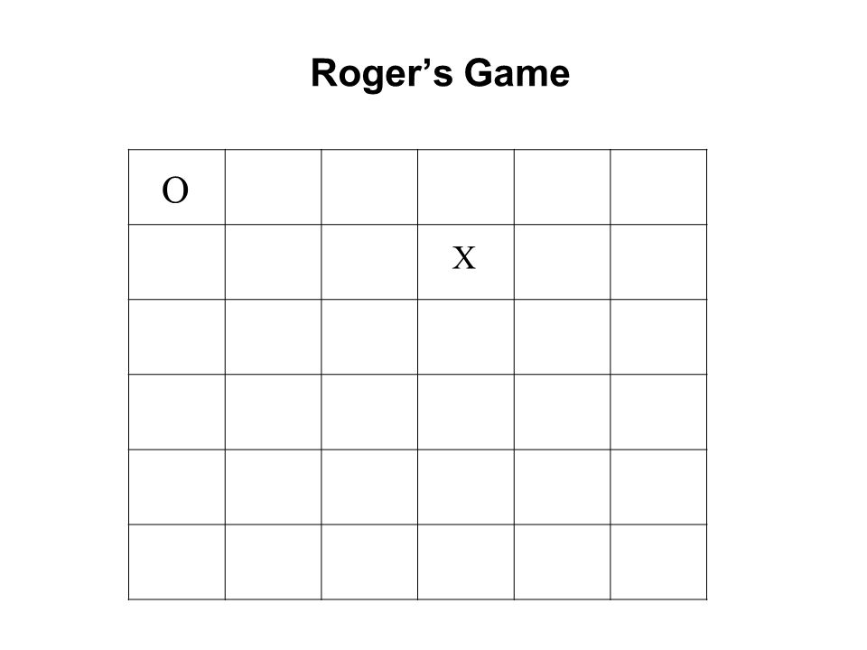 Roger's Game O X