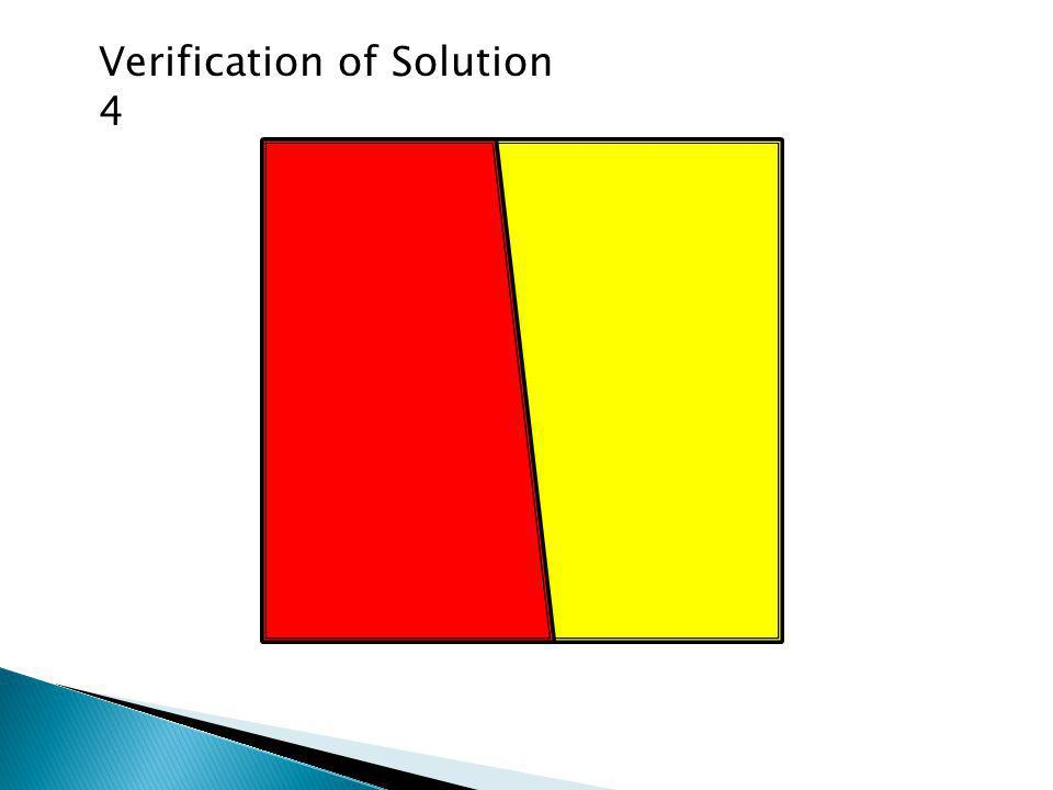 Verification of Solution 4