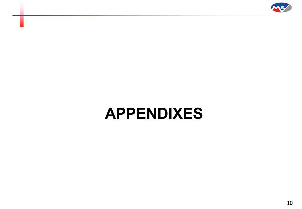 10 APPENDIXES