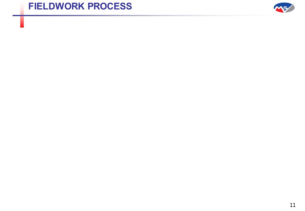 11 FIELDWORK PROCESS