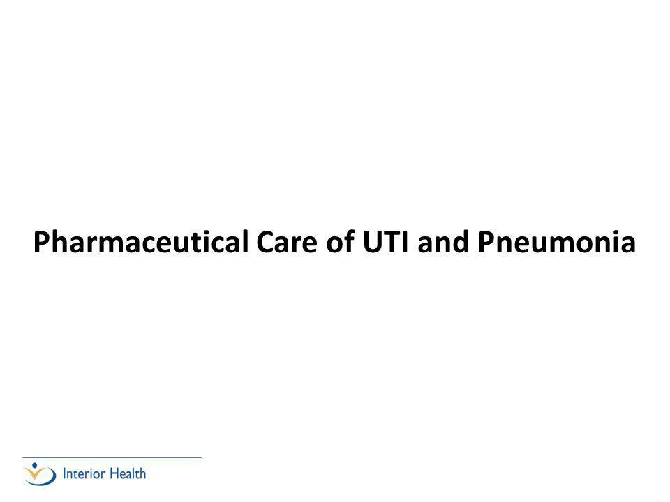 Pharmaceutical Care of UTI and Pneumonia