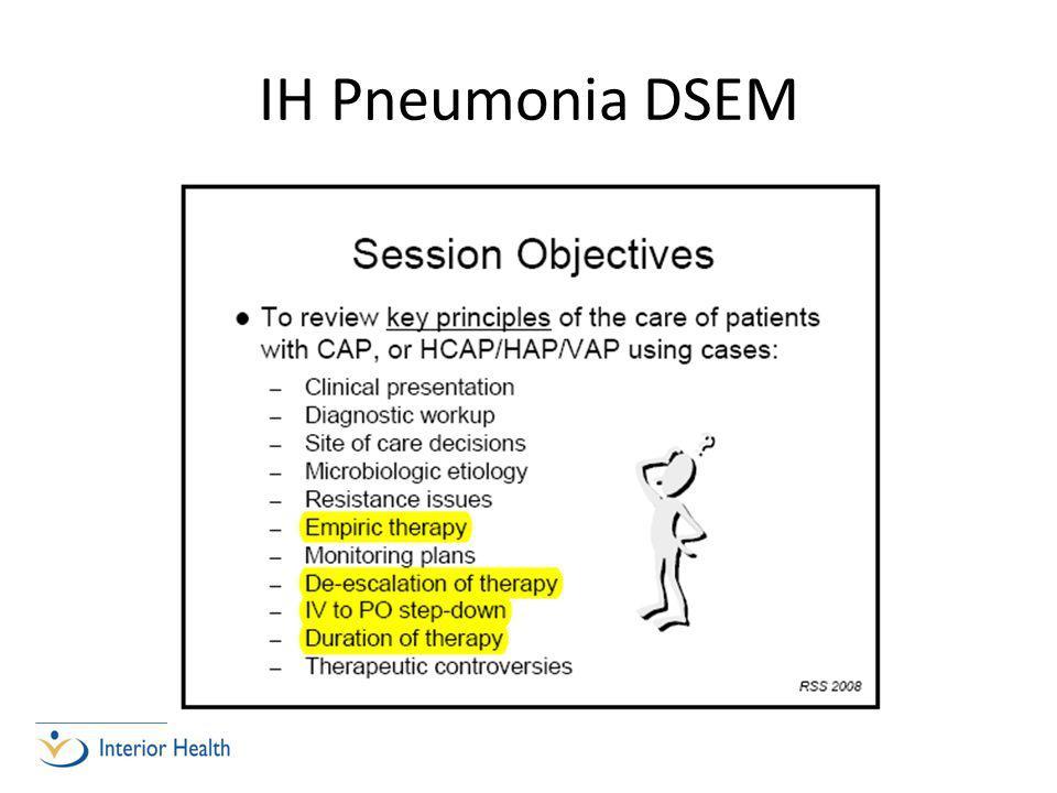IH Pneumonia DSEM