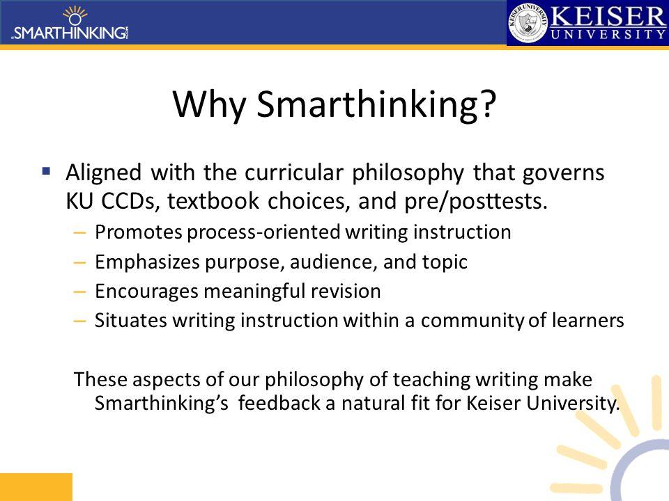 Why Smarthinking.