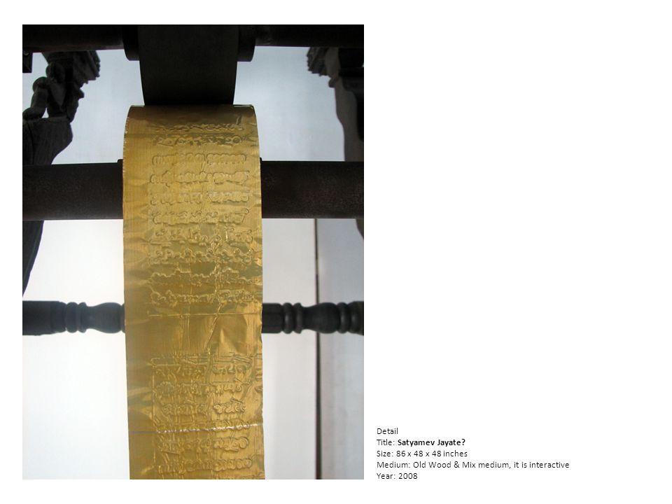 Detail Title: Satyamev Jayate.