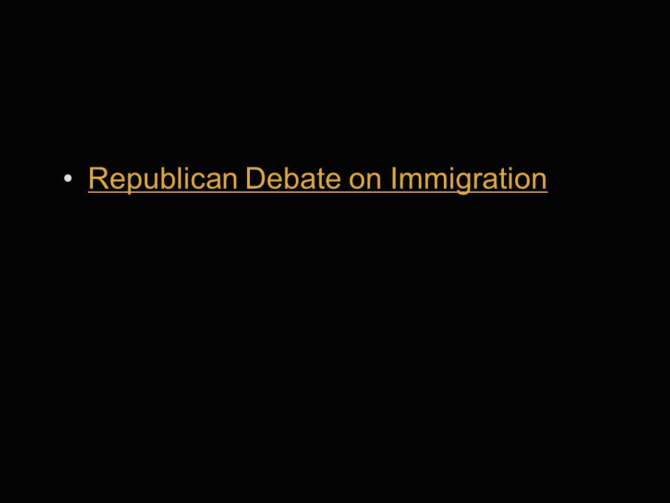 Republican Debate on Immigration