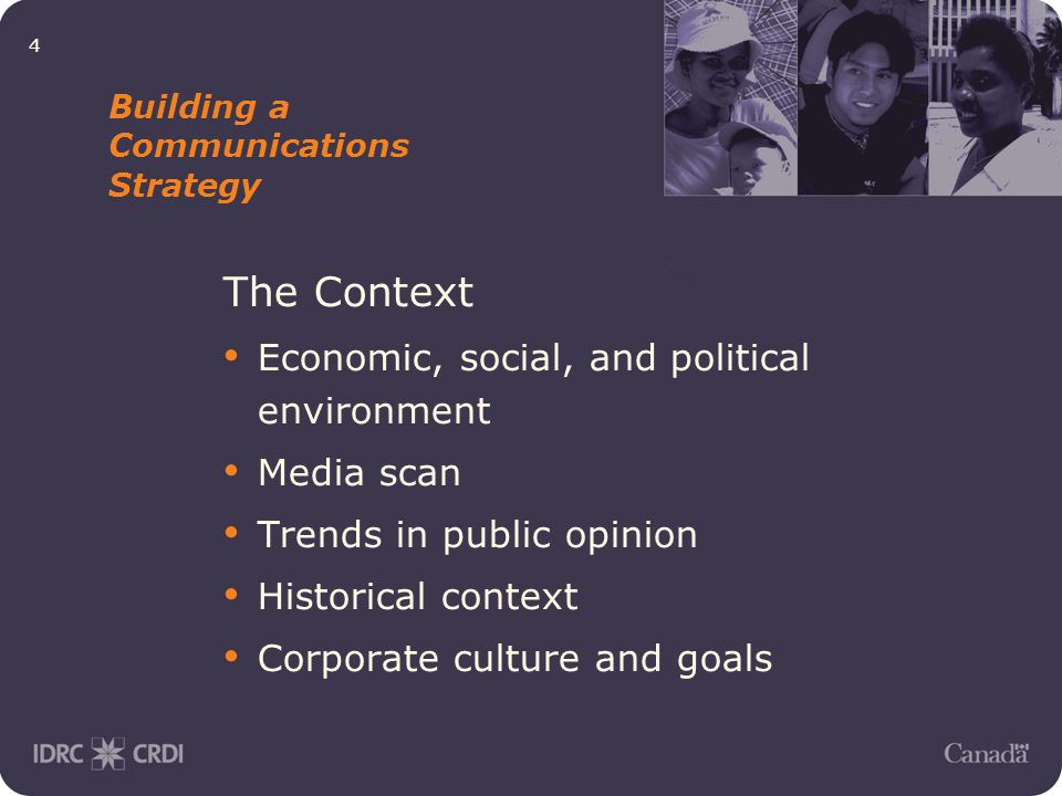 5 Building a Communications Strategy Strategic Considerations Anticipate change Risk analysis SWOT (strengths, weaknesses, opportunities and threats)