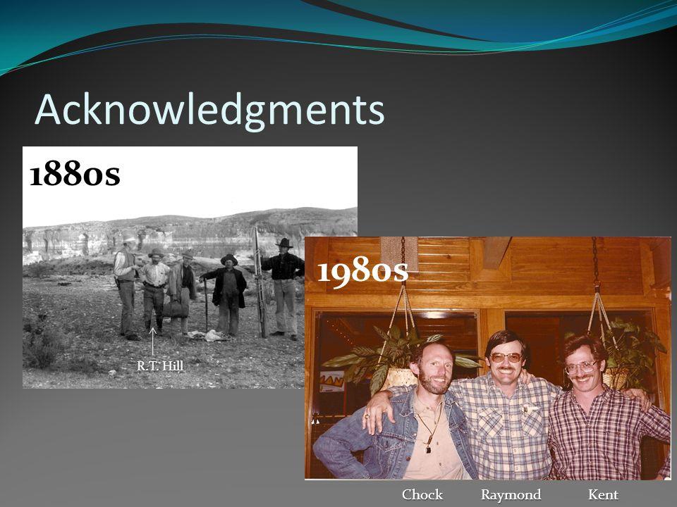 Acknowledgments 1880s 1980s R.T. Hill ChockRaymondKent