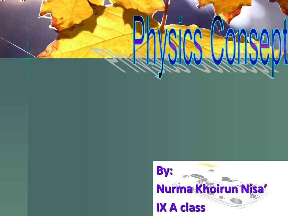 By: Nurma Khoirun Nisa' IX A class