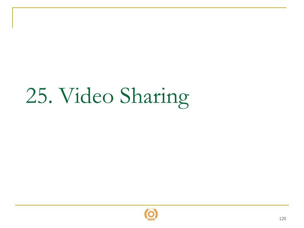 120 25. Video Sharing