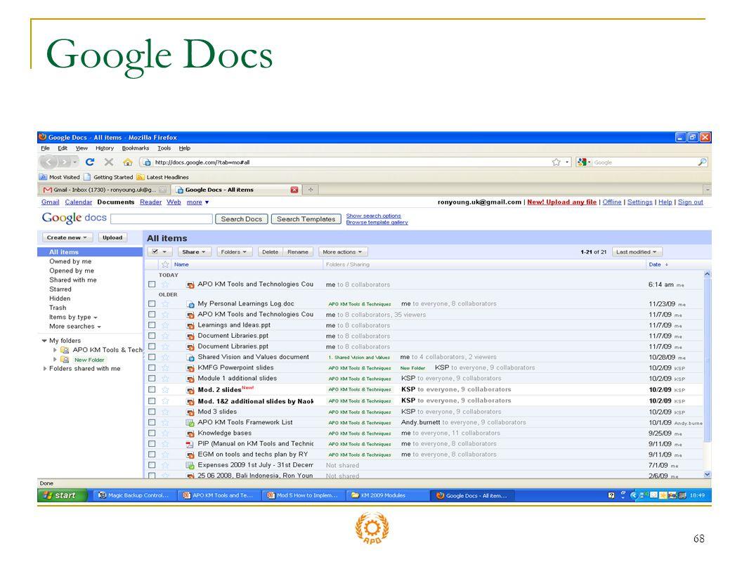 68 Google Docs