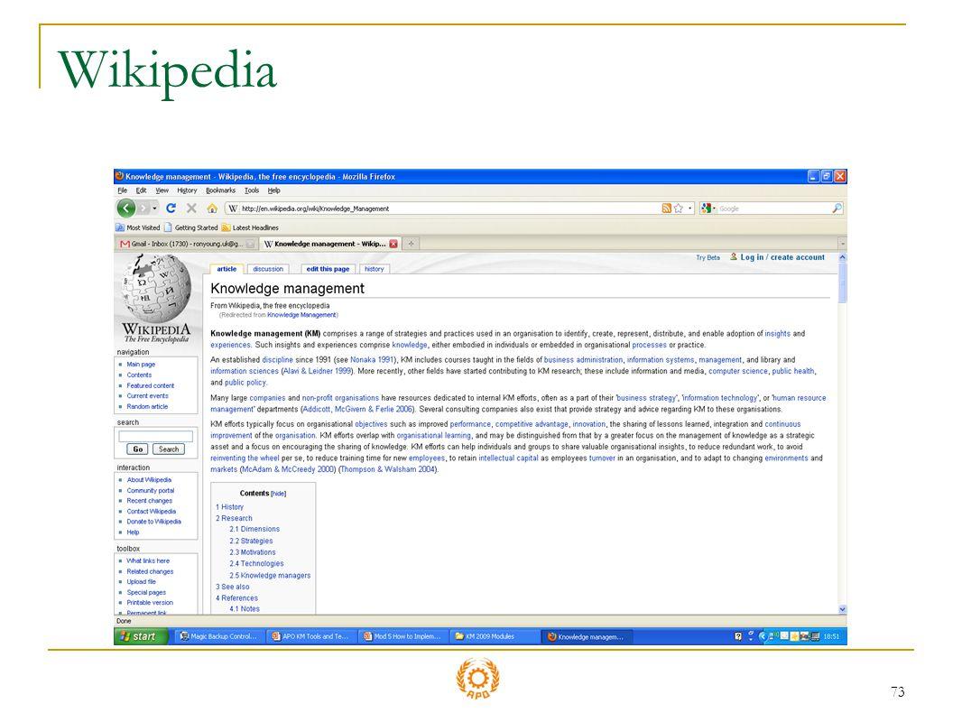 73 Wikipedia