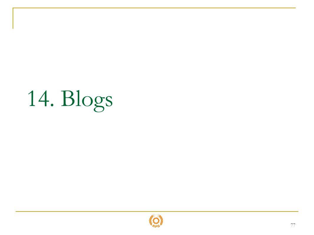77 14. Blogs