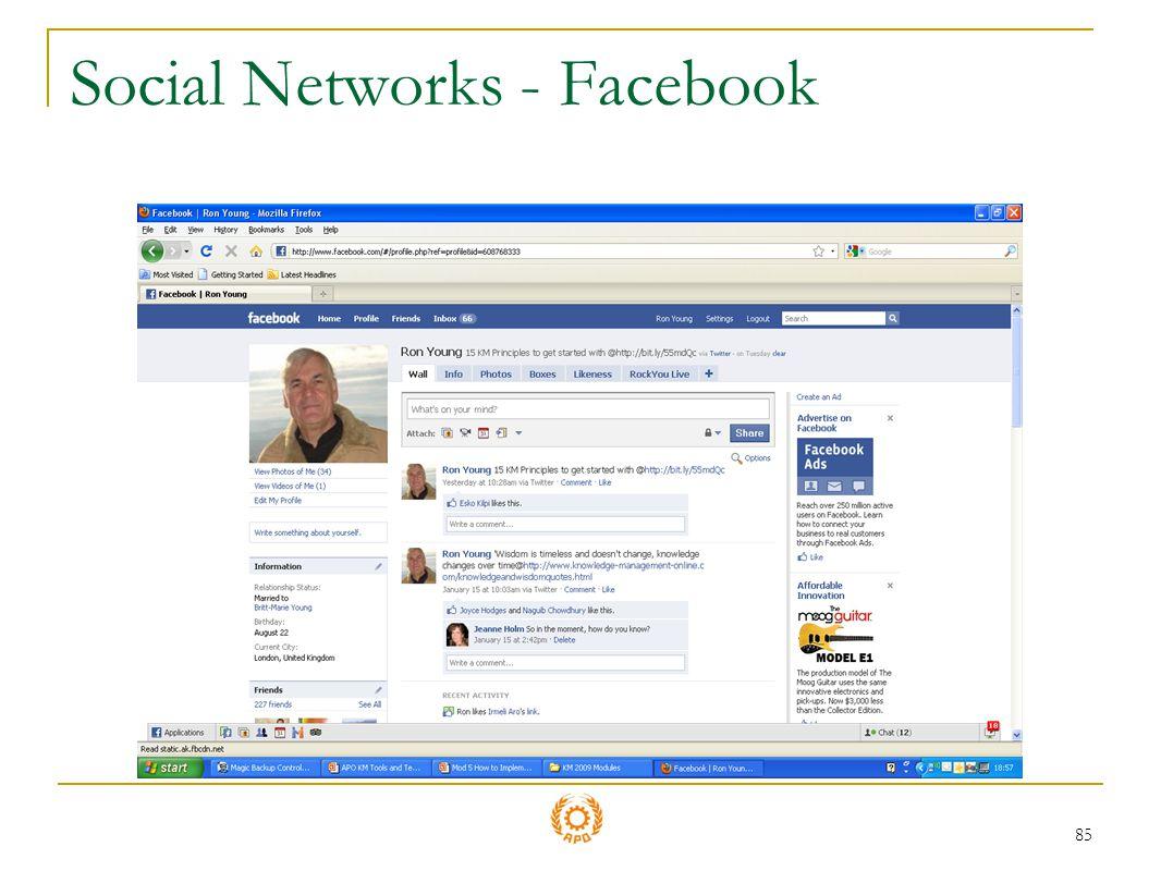 85 Social Networks - Facebook