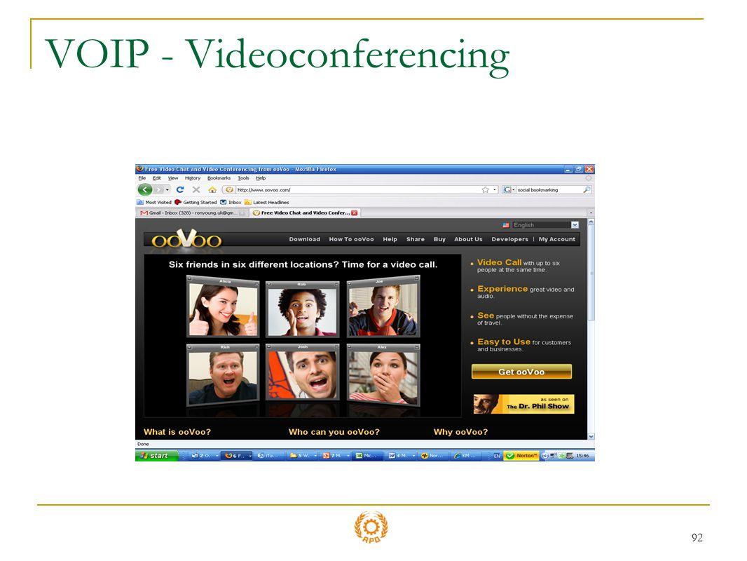 92 VOIP - Videoconferencing