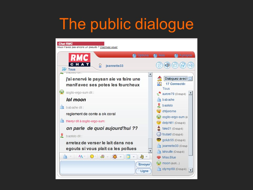 The public dialogue