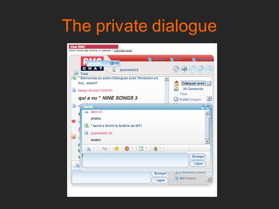 The private dialogue