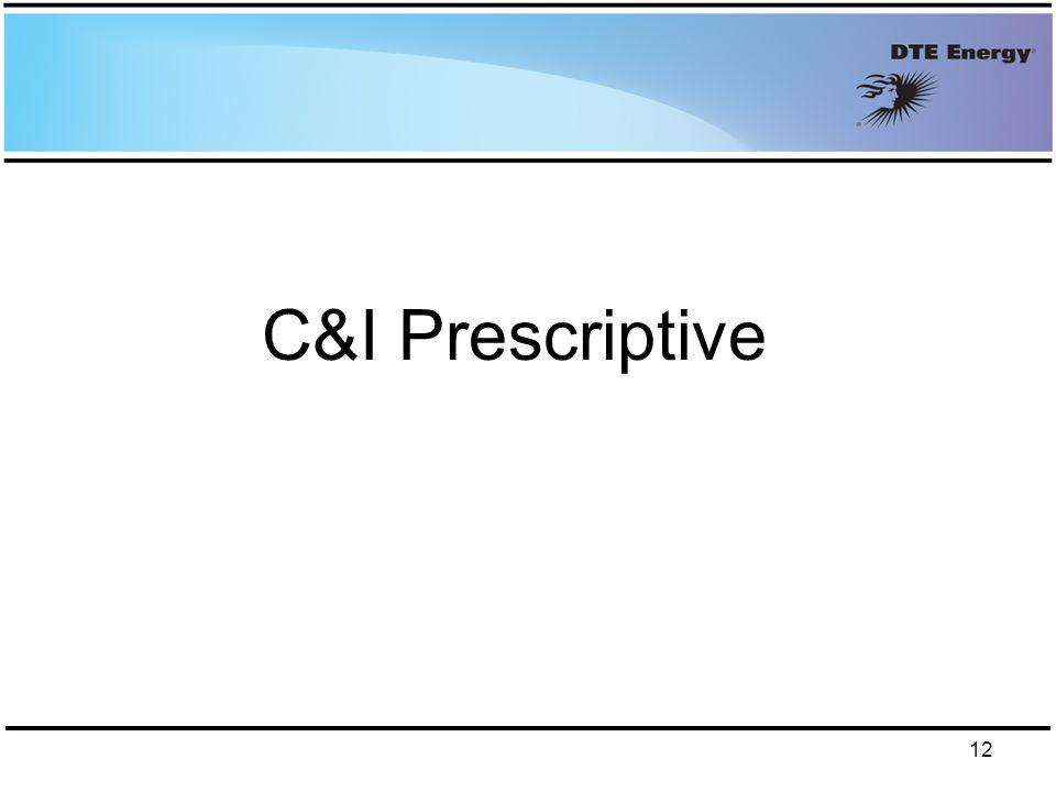 C&I Prescriptive 12