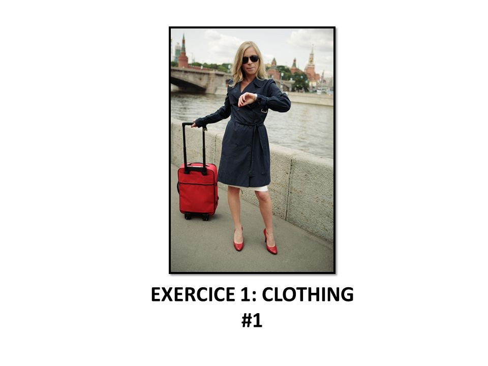 EXERCICE 1: CLOTHING #1