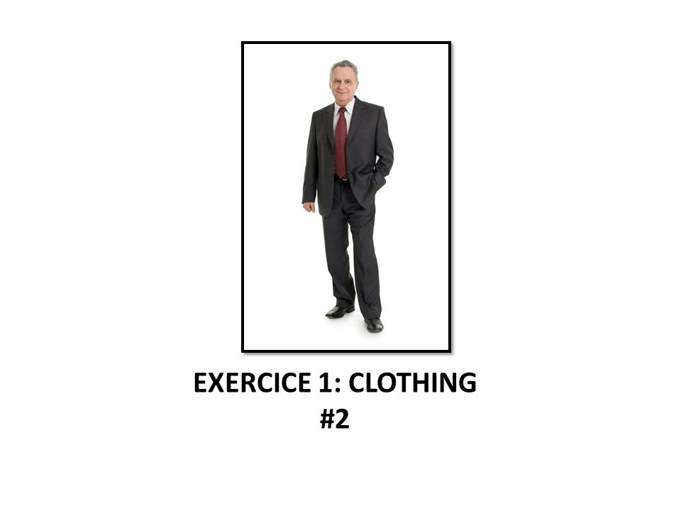 EXERCICE 1: CLOTHING #2