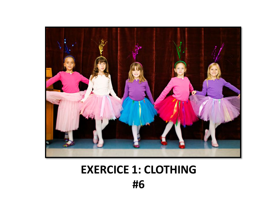 EXERCICE 1: CLOTHING #6