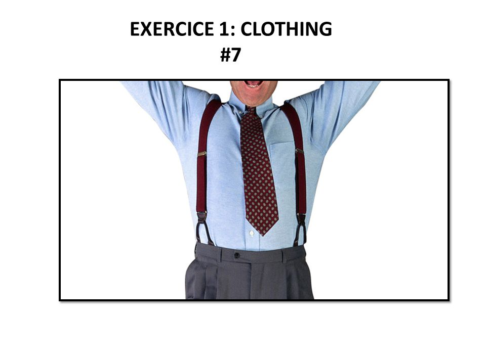 EXERCICE 1: CLOTHING #7
