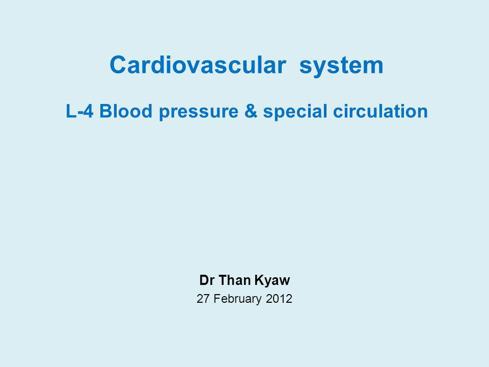 Blood Pressure (BP) Pressure generation and flow Blood is under pressure within its closed system.